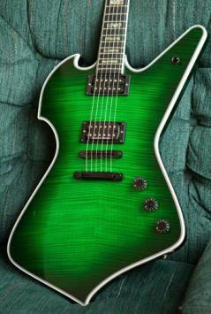 Ed Roman Guitars creation. Bits of BC Rich Mockingbird, Ibanez Iceman and Gibson Explorer.