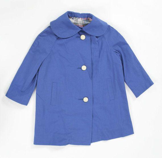 Girls vintage 1960's swing coat. Age67 by PeachandLoveVintage, £40.00
