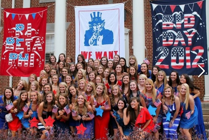 America bid day Theme- We Want YOU! Usa theme would give us the CUTEST tank top options!