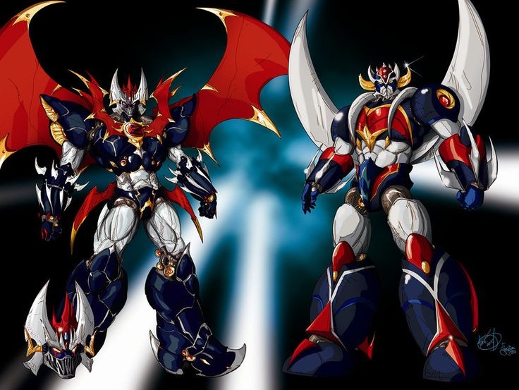 Mazinkaiser and Grendizer by ~gwydion1982 on deviantART