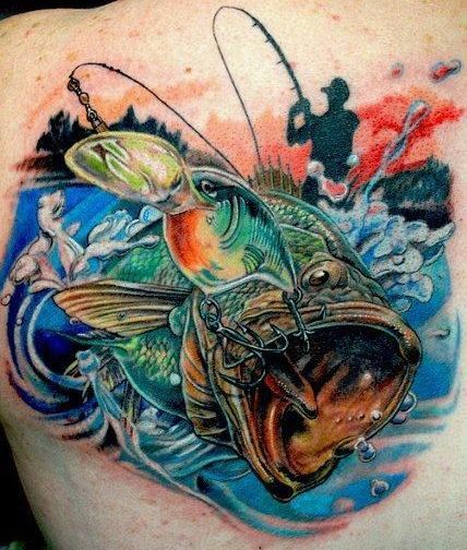 Largemouth Bass tattoo