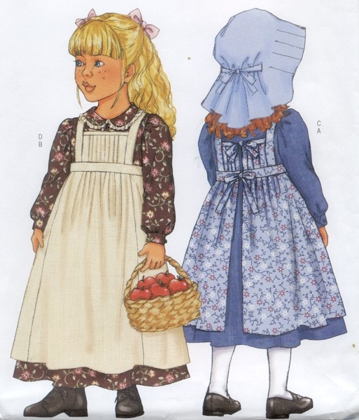 Girls Prairie Dress Pattern Bing Images Butterick