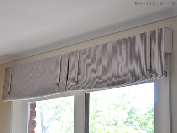 DIY No Sew Rolled Window Valance