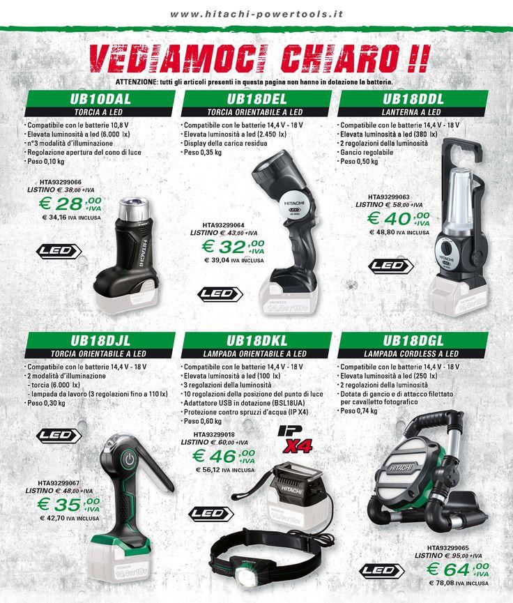 Vediamoci chiaro! Hitachi presenta la sua gamma di torce, lanterne e lampade cordless a prezzi speciali!  Scegli il rivenditore più vicino a te e approfitta dell'offerta, in vigore fino ad agosto
