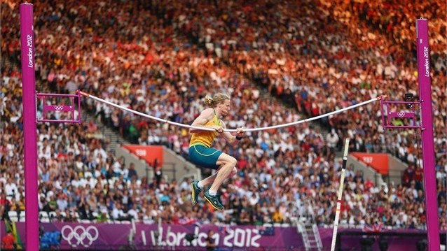 Slagline @ the Olympics?Steven Hooker, London Summer, Olympics Games, Men Pole, Olympics Photos, Olympics 2012, London Olympics, Not Vaulted, Australia Fail