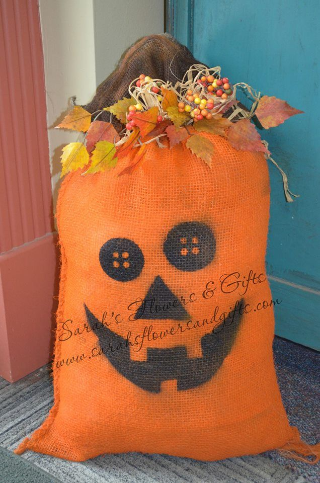 16 best images about fall decorating ideas on pinterest Burlap bag decorating ideas