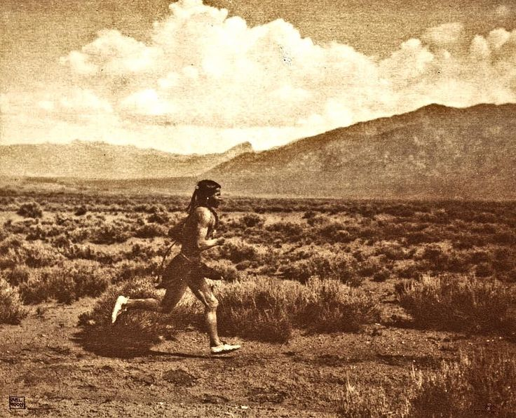 Taos pueblo runner. New Mexico. Early 1900s. Photo by Carl Moon.