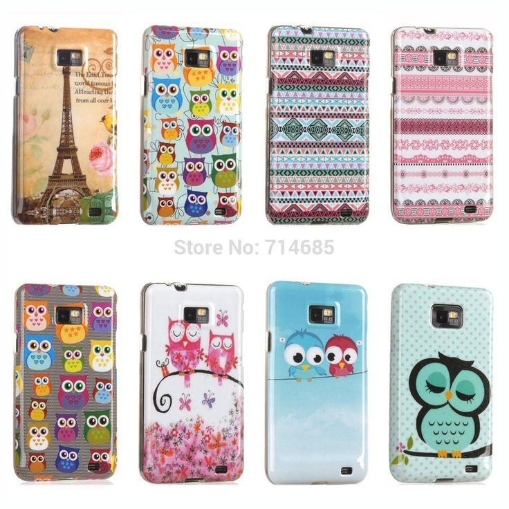 Эйфелева башня индийский стиль горошек сова мягкие TPU IMD силиконовый телефон чехол для Samsung Galaxy S2 кожного покрова S 2 i9100 i9103 i9105