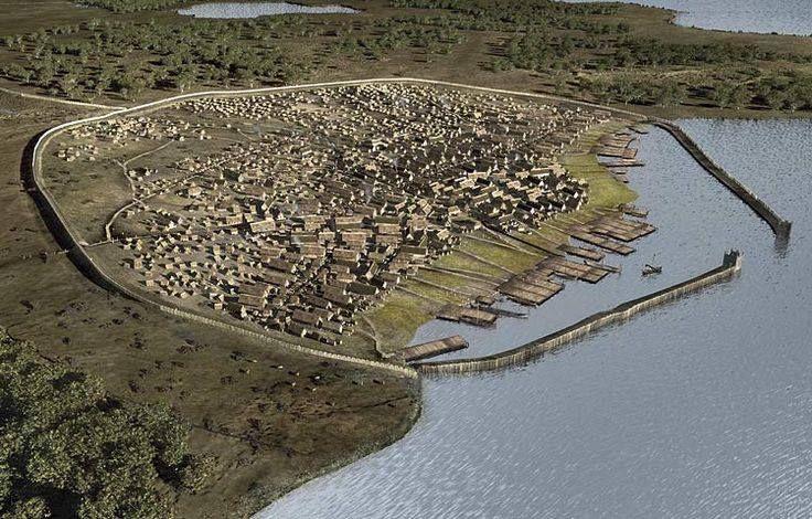 Haithabu near Denmark. Re-creation of a Viking Village.