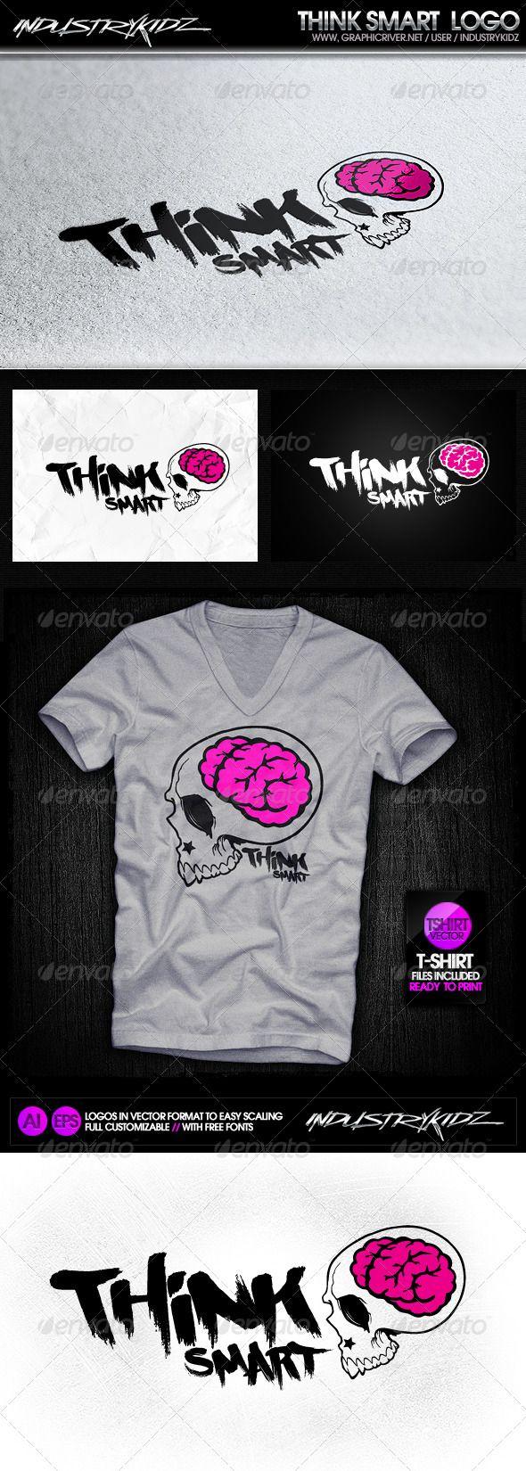 T Shirt Design Zeixs - Geek brain logo template