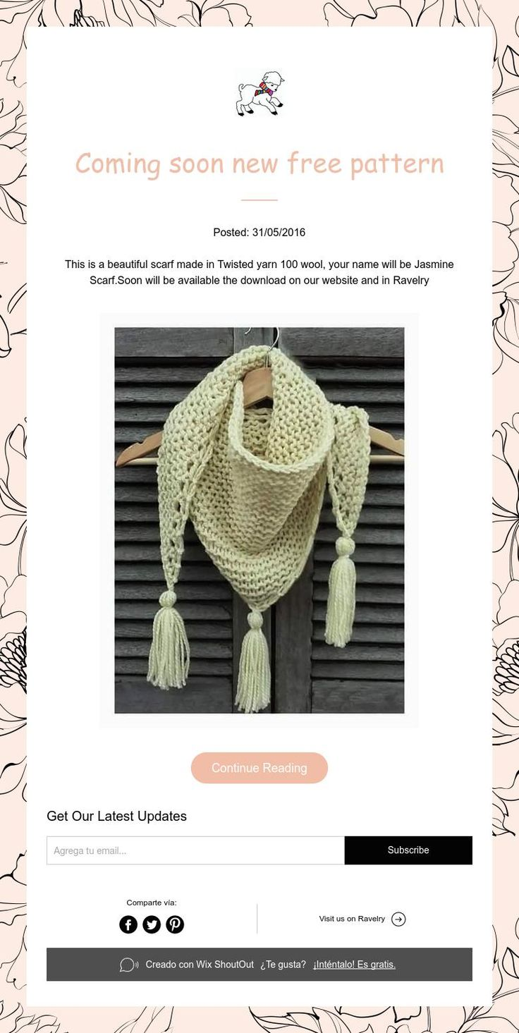 Coming soon new free pattern