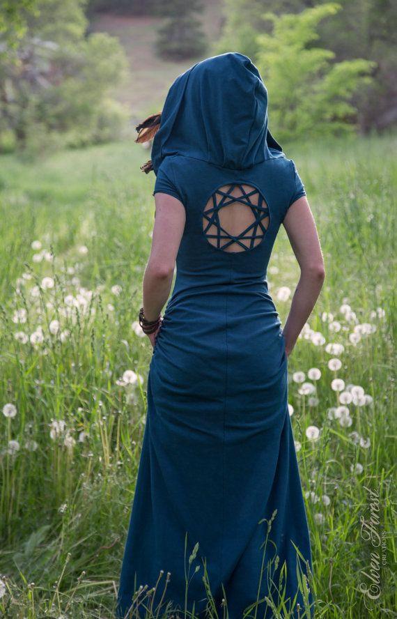 Robe de Dreamcatcher Kaléidoscope ~ Version Casual ~ robe de forêt elfique, tzigane, Festival de vêtements, Faery, nymphe, lutin, Bohème, romantique