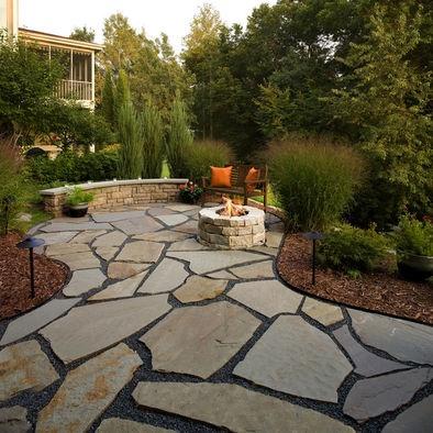 60 best stone patio ideas images on pinterest | patio ideas ... - Stone Patio Ideas Backyard