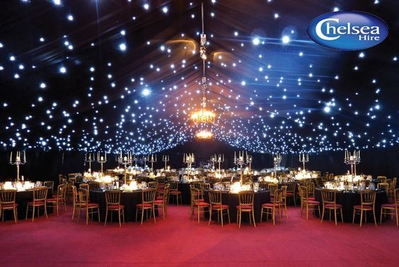 Under The Stars Wedding Setting Idea Starry Night In The