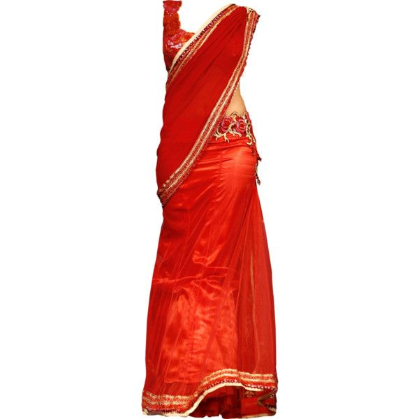 edited by Satinee - Satya Paul found on Polyvore featuring dresses, gowns, long dresses, vestidos, long red evening dress, red evening dresses, satya and red dress