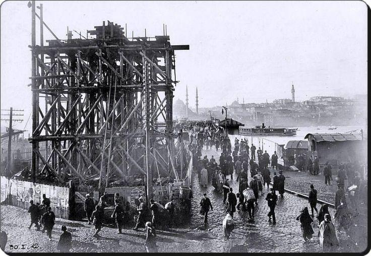 Galata Köprüsü İnşaatı / 1912