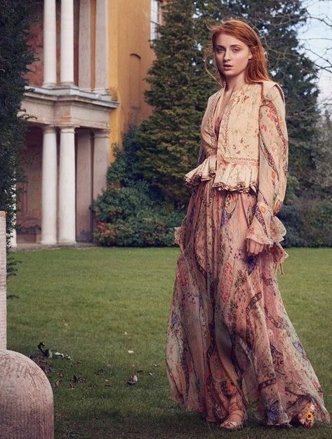 """""""The Woman Within."""" Sophie Turner in Etro photographed by Dima Hohlov for The Edit magazine, April 2016."""