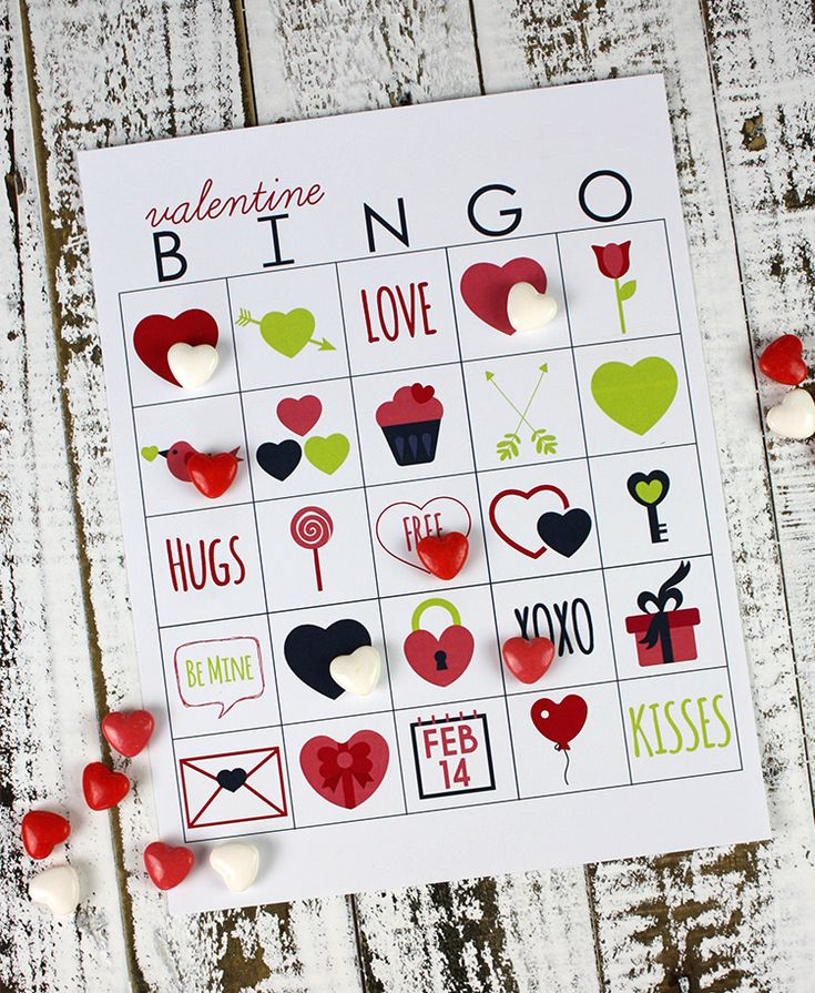 Bingo is perfect for class Valentine parties...or just a little fun at home. Includes five different bingo cards in two different sizes.
