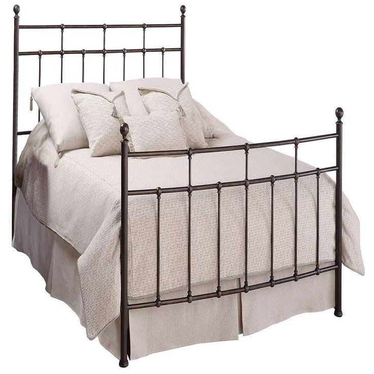 Providence King-Size Bed with Rails, Antique Bronze