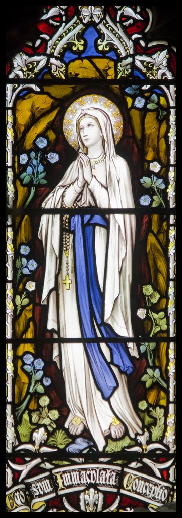 """""""Our Lady of Lourdes"""" by Lawrence OP on Flickr - In 1858 the immaculate Virgin Mary appeared to Bernadette Soubirous, near Lourdes in France, in the cavern called """"de Massabielle""""."""