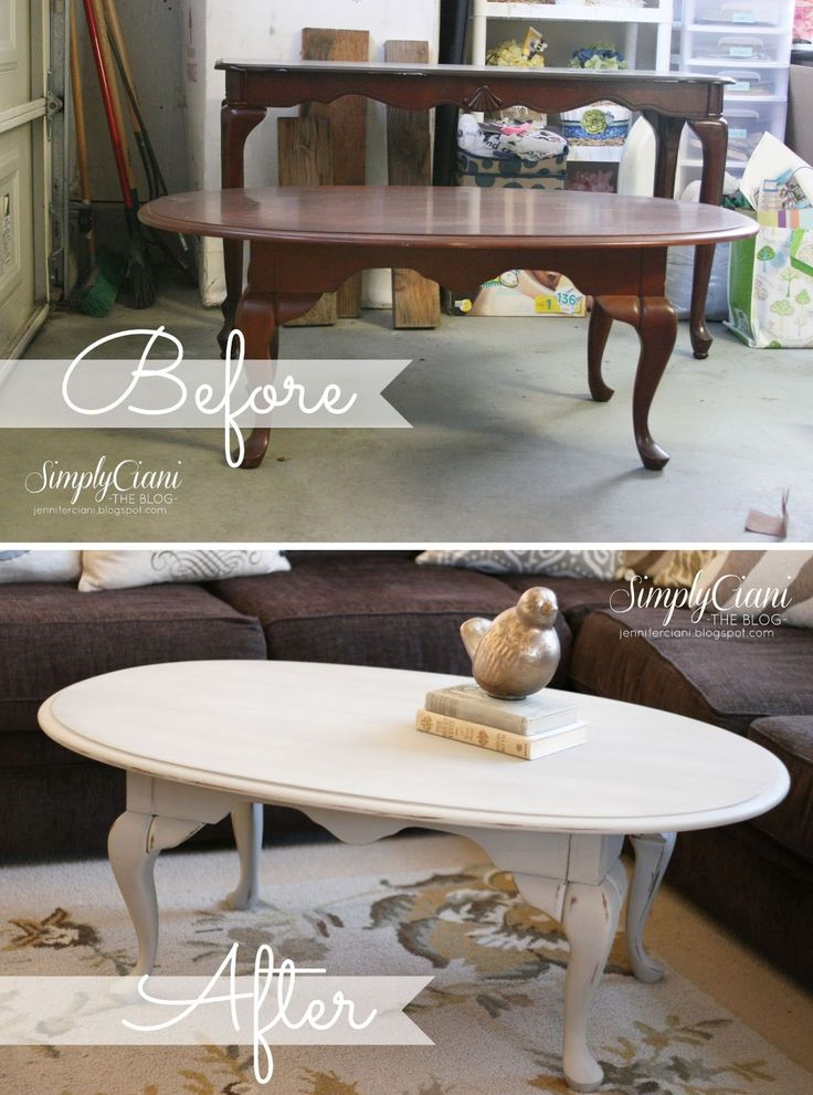 Painted Coffee Table - Antique Grey Coffee Table - Distressed Coffee Table - Shabby chic  Idea for kitchen table and stools