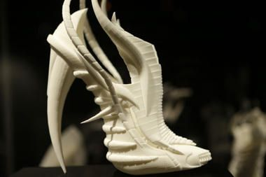 3-D printers bring new edge to fashion  bone shoe  June 2013