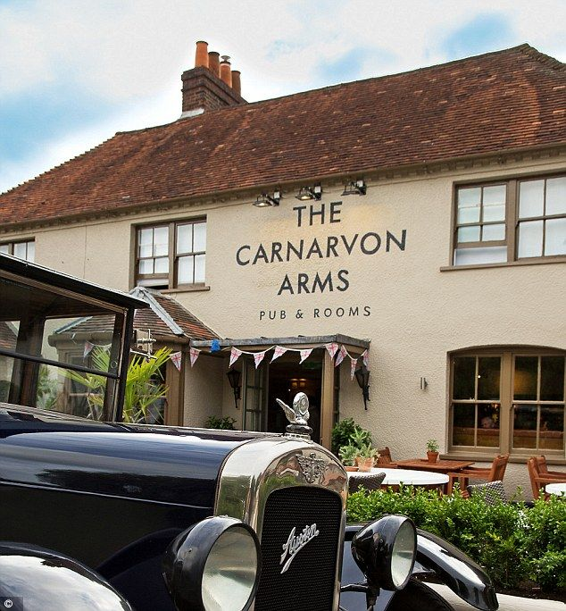 The Carnarvon Arms (a country inn in Newbury) might be near Highclere Castle but it's a world away from Downton. It's near Highclere Castle but isn't owned by Lord and Lady Carnarvon