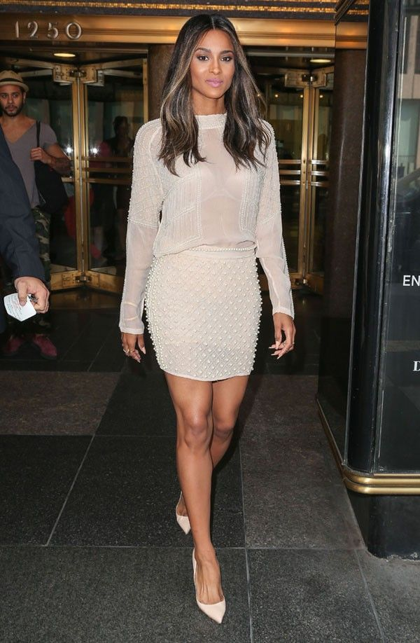 Fabulously Spotted: Ciara Wearing Zara - NBC's 30 Rock Studios  - http://www.becauseiamfabulous.com/2013/08/ciara-wearing-zara-nbcs-30-rock/