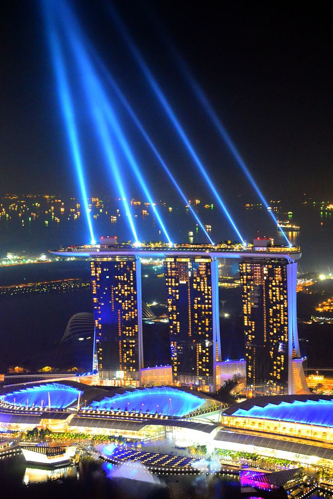 https://flic.kr/p/avNpBG | Marina Bay Sands, Singapore | Singapore at Night Photos taken from 1-Altitude, One Raffles Place