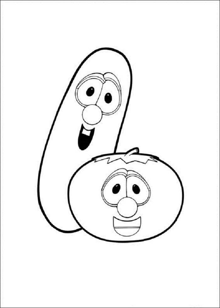 Veggie Tales Coloring Pages Photos