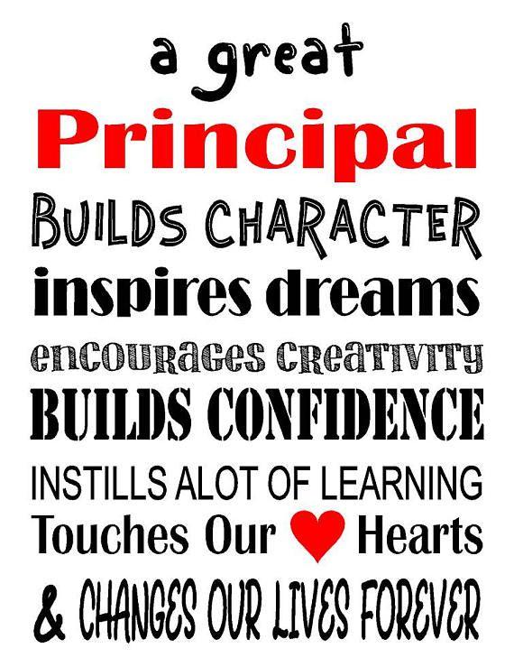 A Great Principal, Teacher Gift - Thank you Gift, Christmas Gift, etc.