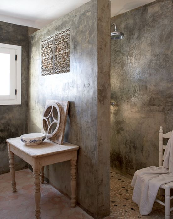 Love the decorative vent from the shower!  found via My Paradissi. Enrique Menossi photographer
