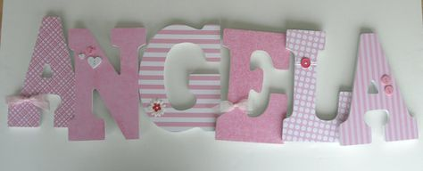 Custom Wooden Letters Light Pink Nursery Girl by LetterLuxe