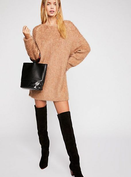 94701054257 Stay comfy and stylish in this Bon Bon Sweater Dress