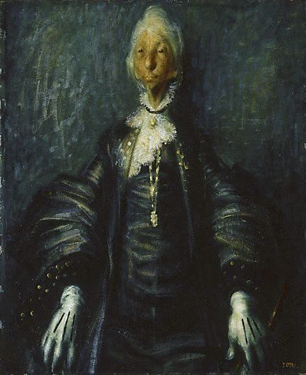 Dame Mary Gilmore (1957) by William Dobell via AGNSW