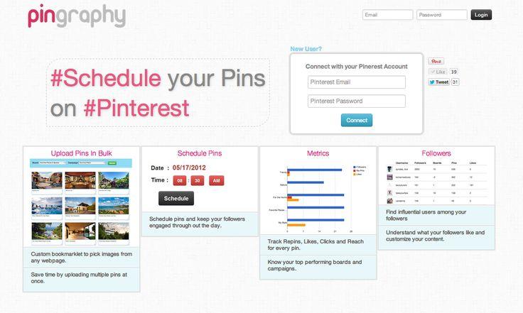 Schedule pins on #pinterest using pingraphy.com <Schedule Pin,  Internet Site,  Website, Pinterest Management, Pinterest Tools, Social Media, En Pinterest, Web Site, Socialmedia