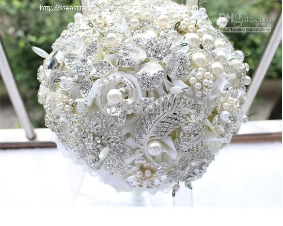 Bridal Bouquet Made Of Jewels : New luxury jewelry wedding bouquet high end g ?