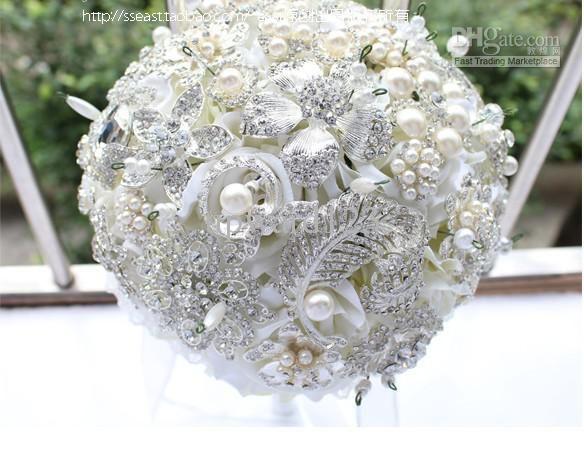 Cheap New Luxury Jewelry Wedding Bouquet High End Custom ...