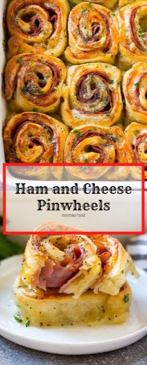 Ham and Cheese Pinwheels #christmas #appetizer Nova Tasty Recipes