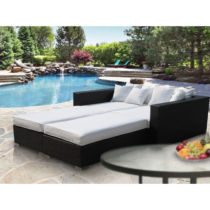 LexMod   Palisades 4 Piece Outdoor Patio Daybed