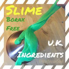 UK slime recipe - MontessoriSoul - Montessori materials available for Free