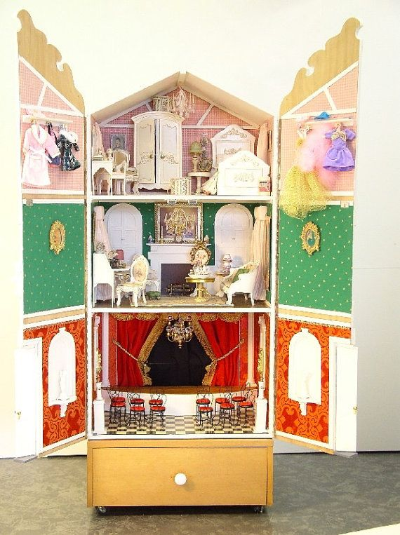 Doll House Theatre Barbie Scale For Sale by EstelleWorrellDesign.    (a small step up from PC) [Etsy, $71,000 yes, really, Feb/16]