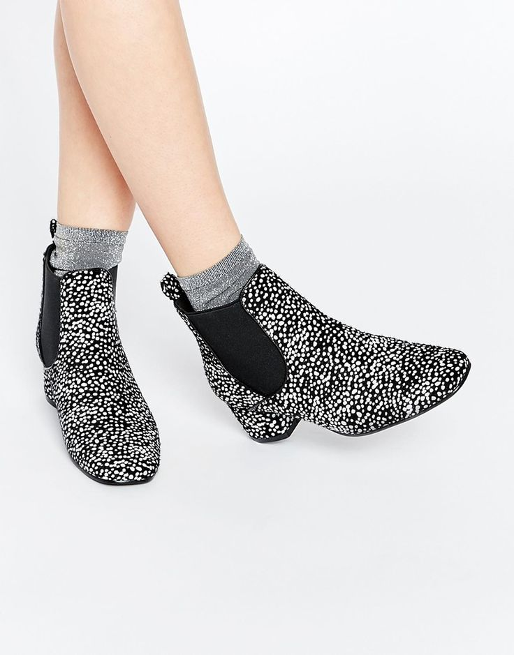 Image 1 of ASOS RAVE TIME 60s Chelsea Ankle Boots
