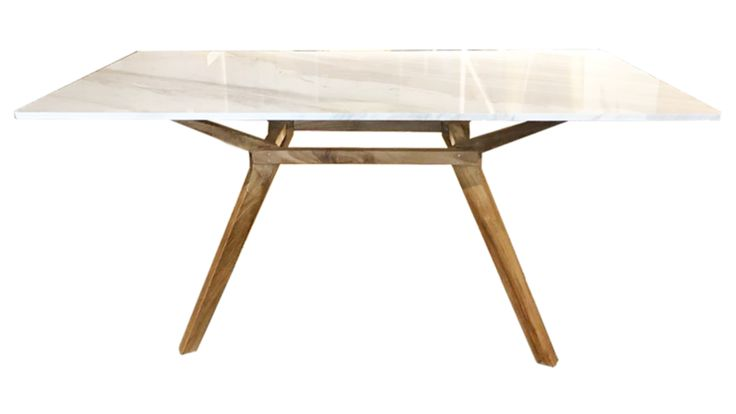 ELEGANCE dining table (with white marble or blue pearl granite top) Made from 100% PREMIUM grade SOLID TEAK wood  and beautiful white marble or blue pearl granite  180cm X 90cm X 77cm   Price include free delivery and installation for all furniture (within Singapore only)  Minimum 2 weeks delivery lead time