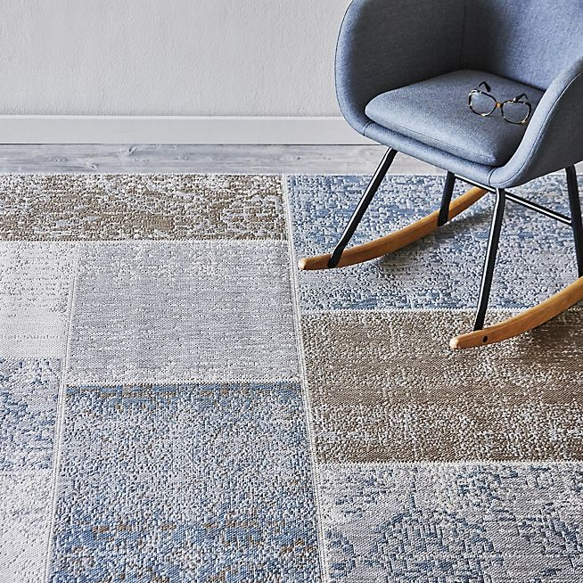 agadir tapis extrieur et intrieur 160x230cm bleu - Ciment Color Exterieur