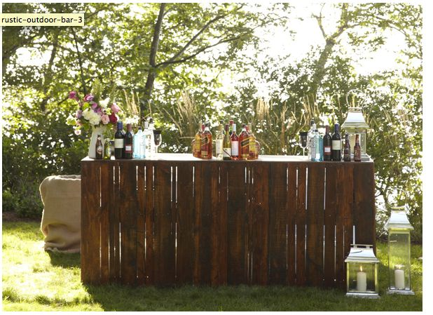 rustic bar out door bar wood pallets diy projects