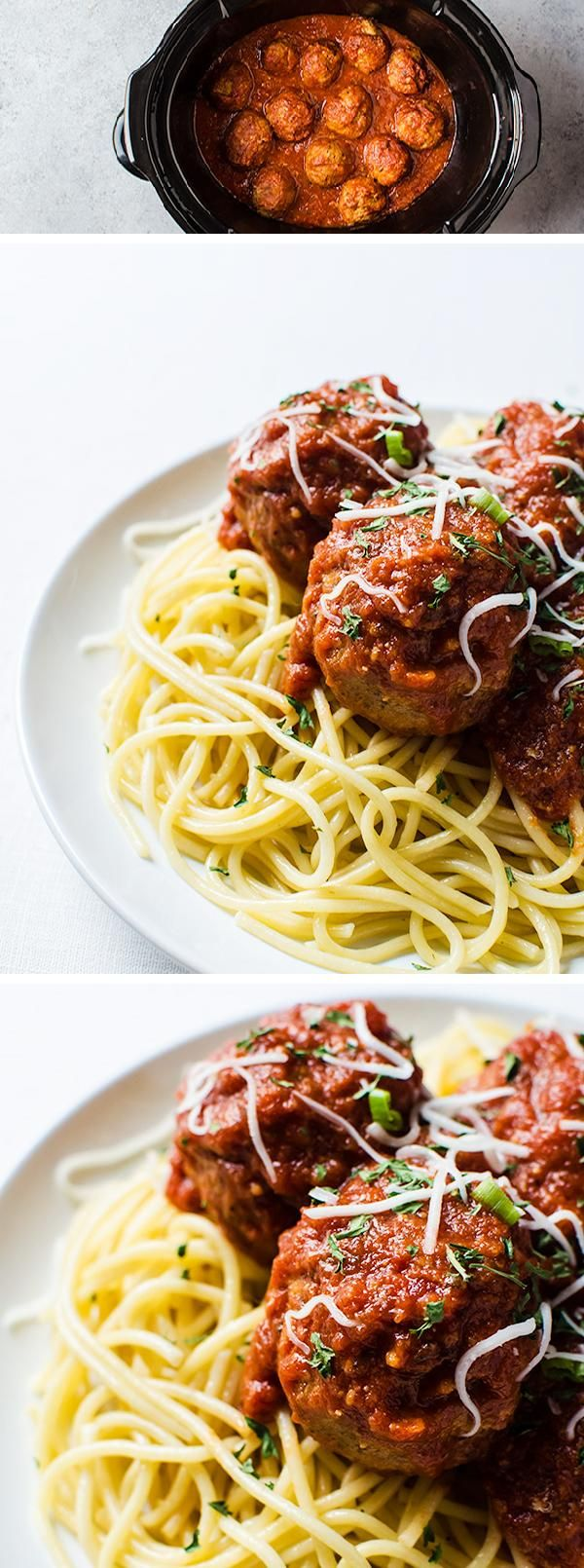 These easy SLOW COOKER TURKEY MEATBALLS are a deliciously easy weeknight dinner you can start in the morning and have ready by dinner. Family friendly, and kid approved!