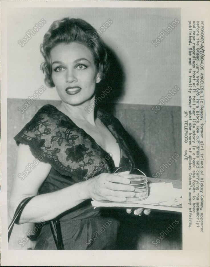 Seductive Liz Renay Girlfriend of Mickey Cohen Testifies Orig Press photo. June 1960.