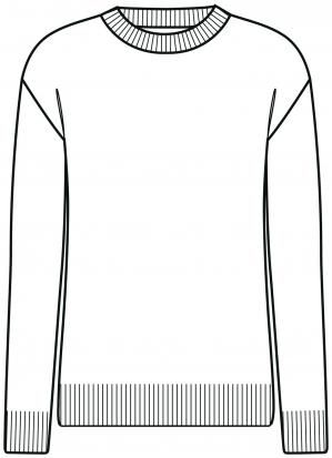 Le pull - forme droite