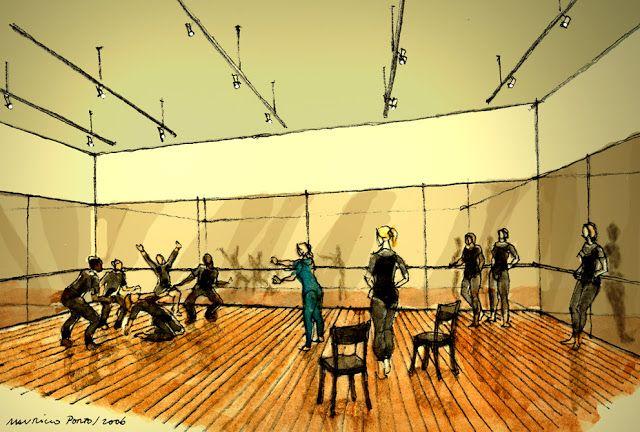ILUSTRAÇÕES DE ARQUITETURA: 070 - Sala de Dança / Projeto Centro Cultural Modelo / SESC Nacional